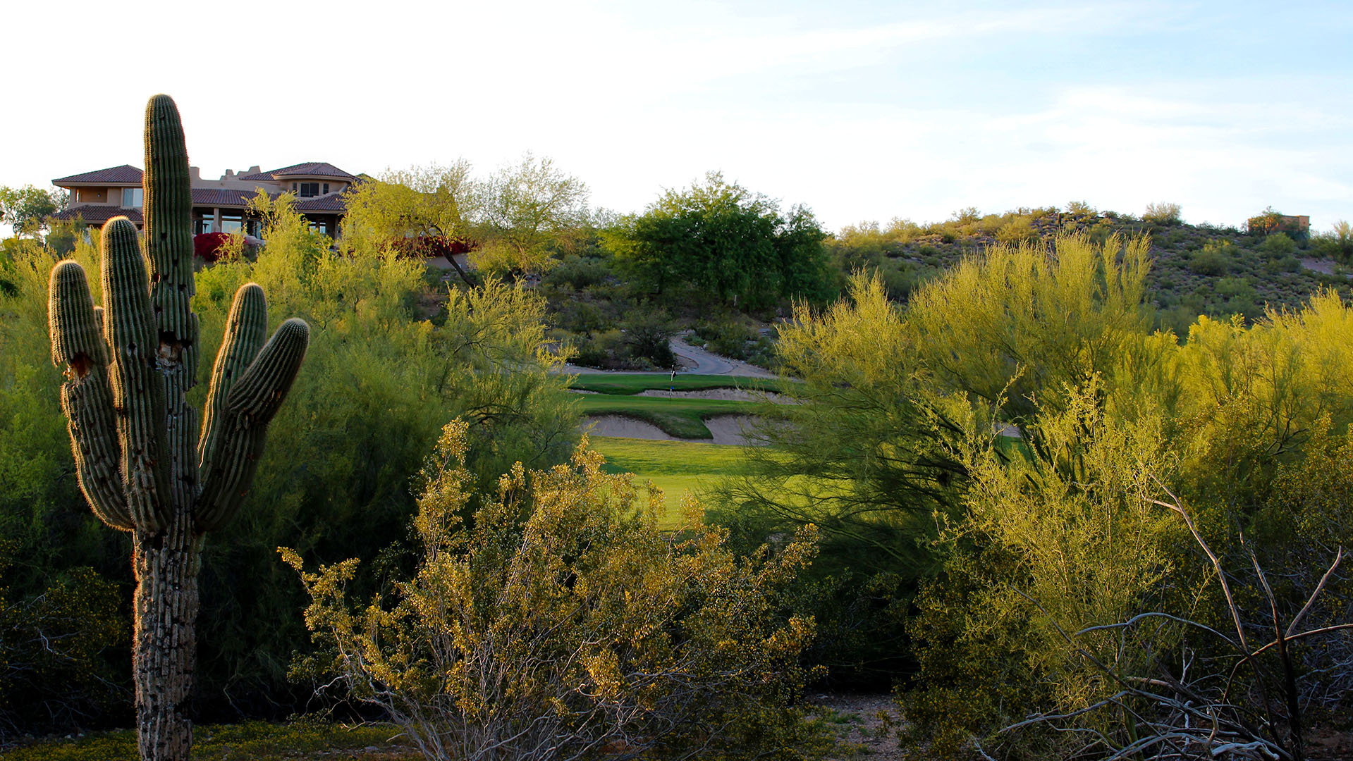 The course at Lookout Mountain Golf Club is lined with beautiful shrubbery